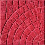 Πλάκα πεζοδρομίου Βυζαντινό Κόκκινο