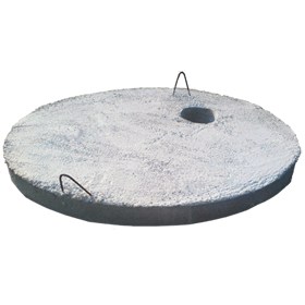 Concrete manhole and well covers