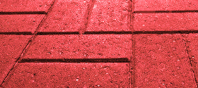 Brick shaped block pavers